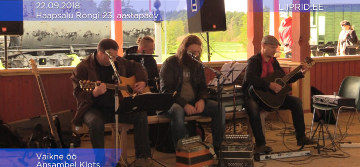 VIDEO: Ansambel KLOTS Haapsalu raudteejaamas