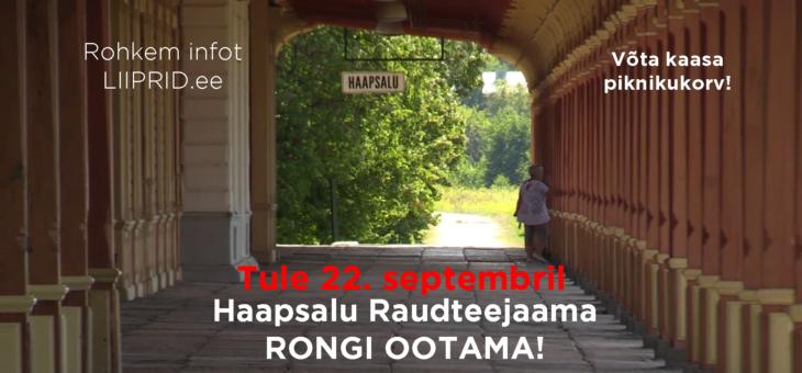 Pühapäeval oodatakse Haapsalu raudteejaamas taas rongi