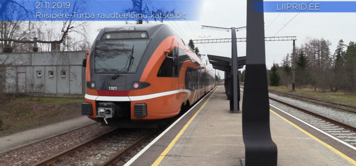 LIIPRID.ee VIDEO | Riisipere-Turba raudteelõigu katsesõit